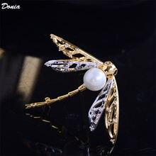 Ювелирные изделия donia модная роскошная брошь в виде стрекозы