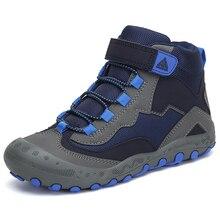 Sonbahar yürüyüş ayakkabıları çocuklar açık Sneakers erkek kız ayak bileği Trekking ayakkabıları çocuk kış yürüyüş botları nefes tenis infantil