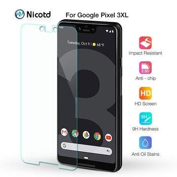 Перейти на Алиэкспресс и купить Закаленное стекло для Google Pixel 4xl 3 3a 2 9H, Премиум Защитная пленка для экрана Google Pixel XL 4 3a XL 2 XL HD, защитное стекло