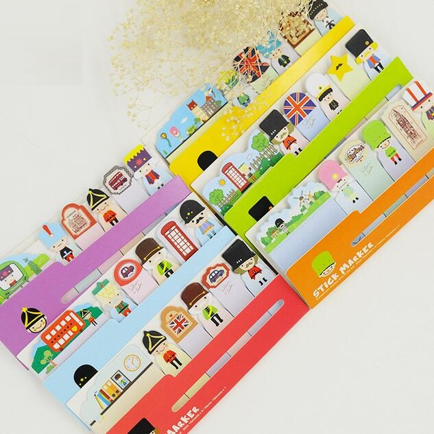 1pack/lot London Soldiers Row N Times Posted Eight Random Adhesive Notes Sticky Notes Paper Notepad Kawaii Stationery
