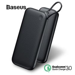 Baseus 20000mAh banco de energía doble carga rápida 3,0 batería externa USB para iPhone 11 Pro Max 18W PD Fast Chagring Powerbank