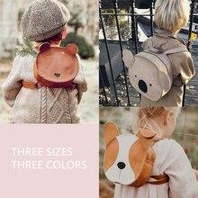 Real Leather ! Australia Brand Toddler Boys Girls Animals School Bag Kids
