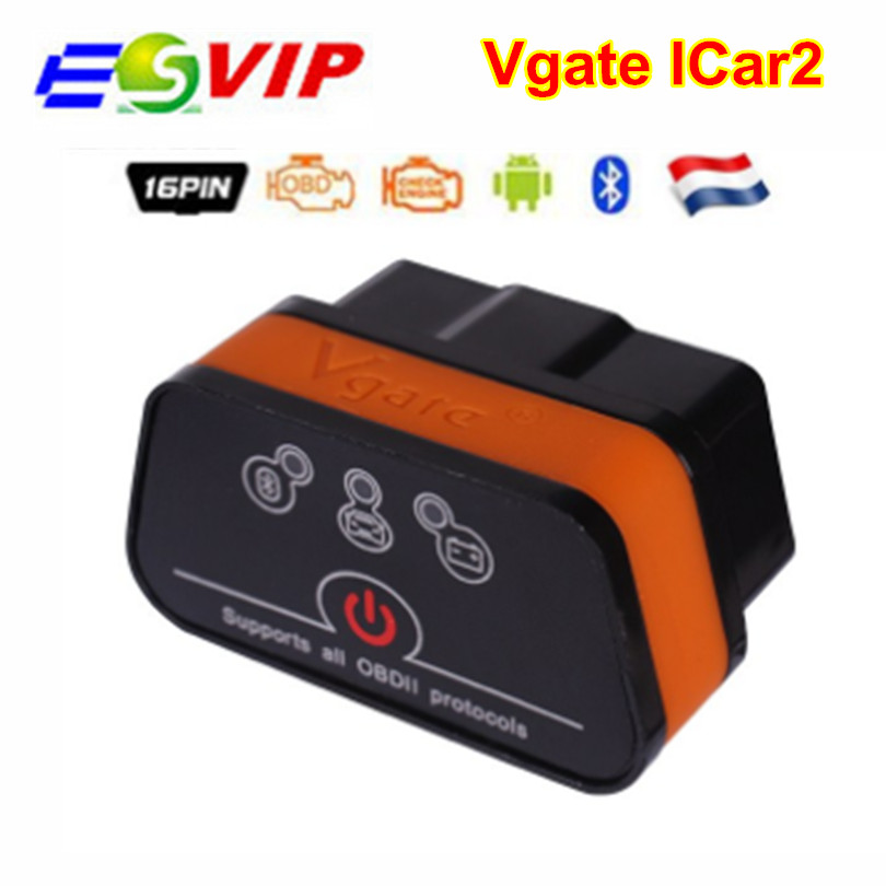 Vgate ICar2 ELM327 Obd2 Bluetooth Scanner Elm 327 V2.1 Obd2 Icar 2 Auto Diagnostic Scanner For Android/PC Code Reader