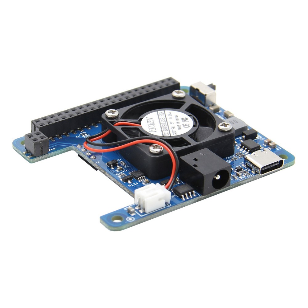 New Programmable Smart Temperature Control Fan And Power HAT Expansion Board For Raspberry Pi 4 Model B / 3B+ / 3B