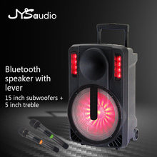 Outdoor Trolley Speaker Portable Bluetooth Speaker with Shock Sensing Sound Effect with Microphone Home Party PA Speaker(China)