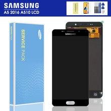 A510F ЖК-дисплей для SAMSUNG Galaxy A5 2016 A510 A510FD A510M A510Y ЖК-дисплей сенсорный экран дигитайзер в сборе регулировка яркости