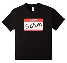 Hello My Nome Is Soton Funny Holloween Devil Costume T-Shirt da uomo