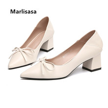 Ladies Classic High Quality Square High Heel Shoes Women Fas