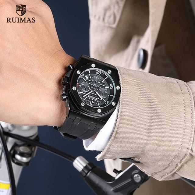 RUIMAS Watch Fashion Silicone Army Military RN540G