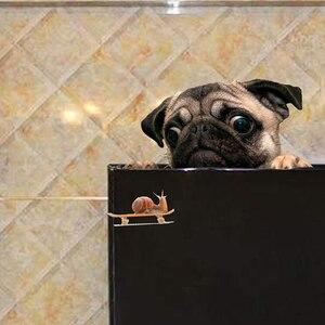 Image 5 - מצחיק 3D פאג כלבי שעון חילזון רכב חלון מדבקות חמוד חיות מחמד גור מחשב נייד מדבקת PVC מדבקת רכב דקור Accessaries
