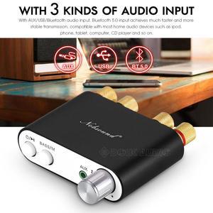 Image 5 - 2020 Lastest Nobsound TPA3116 Bluetooth 5.0 Mini Digital Amplifier Stereo HiFi Home Audio Power Amp Audio Receiver USB DAC 50W×2