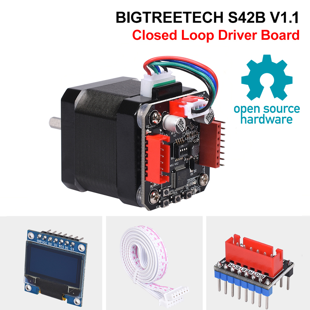BIGTREETECH S42B V1 1 Closed Loop Driver Control Board 42 Stepper Motor OLED 3D Printer Parts For SKR V1 3 SKR V1 4 Ender3