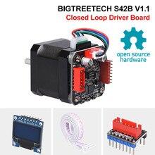 Bigtreetech s42b v1.1 circuito fechado driver placa de controle 42 peças da impressora do motor passo oled 3d para skr v1.3 skr v1.4 ender3
