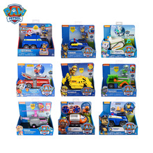 Genuine Paw Patrol Rescue Dog Puppy Set Toy Car Patrulla Canina Toys Action Figure Model Chase Skye Rubble Car For Children Gift