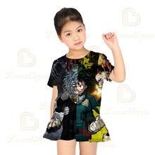 Горячая Распродажа новое летнее платье для девочек с принтом