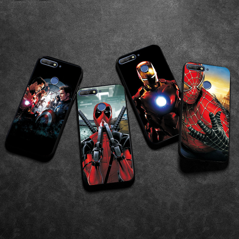 adlucky <font><b>Phone</b></font> <font><b>Case</b></font> For Huawei <font><b>Honor</b></font> 7C <font><b>Cases</b></font> <font><b>Marvel</b></font> Iron Man Black TPU on <font><b>Honor</b></font> 8C 8A 8X 7X 7S <font><b>Case</b></font> Cover <font><b>Honor</b></font> <font><b>9</b></font> <font><b>Lite</b></font> 9X Pro image
