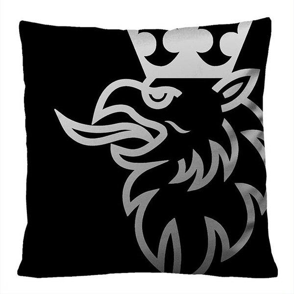 Scania Black Animal Throw Pillow Case Cushion Cotton Sofa Car Home Waist Cushion Cover