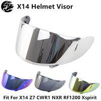 Capacete da motocicleta viseira para x14 z7 cwr1 nxr rf1200 xspirit capacetes escudo windshield viseira capacete da motocicleta acessórios|Capacetes|Automóveis e motos -