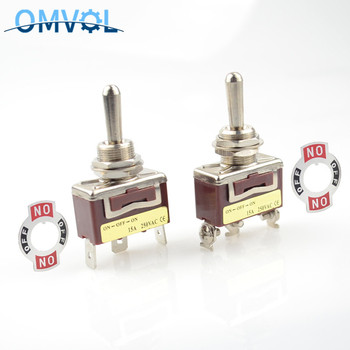 12mm 3position momentary toggle switch (ON) OFF spring return latching ON-OFF-ON waterproof cover - sale item Electrical Equipment & Supplies
