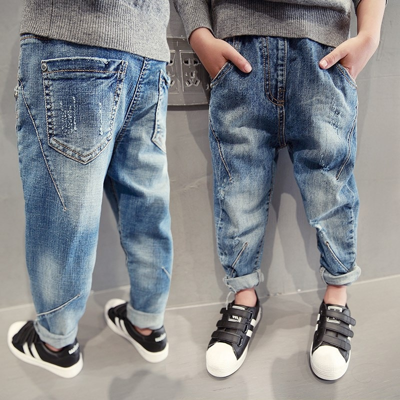 Childrenswear BOY'S Denim Trousers Spring And Summer 2018 New Style Korean-style Fashion Big Boy Casual Pants CHILDREN'S Trouser