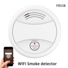 Tuya WIFI Smoke Detector Fire Protection Alarm Sensor Independent Wireless Battery Operated Smart Life Push Alert Home Security