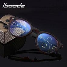 Iboode-gafas de lectura graduales multifocales para hombre y mujer, lentes de presbicia con luz azul, redondas, Retro, Unisex + 1.0to3.0
