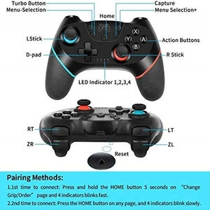 Image 4 - Gamepad Wireless Bluetooth For Switch Console with 6 Axis Handle Game joystick Controller For Nintend Switch Pro NS Switch Pro