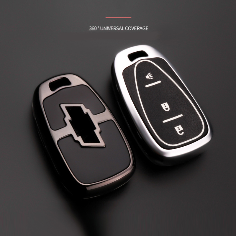 Zinc alloy Car Key Remote Cover Case For <font><b>Chevrolet</b></font> Chevy Malibu XL Equinox Cruze <font><b>Spark</b></font> Camaro Volt Bolt Trax 2016 <font><b>2017</b></font> 2018 2019 image