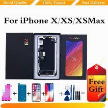 100% протестированный дисплей для iphone x ЖК xs xr 11 сенсорный