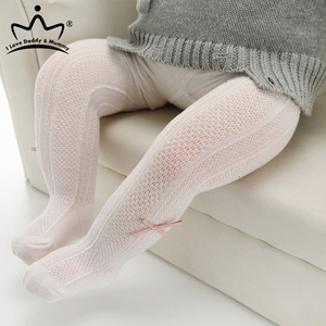 Baby Tights Cute Bows Cotton Baby Girl Pantyhose Summer Mesh Breathable Kids Stockings Hosiery
