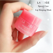 Корейская маска для сна для губ, увлажняющий бальзам для губ для ночного сна, розовый отбеливающий питательный крем для ухода за губами, 3г