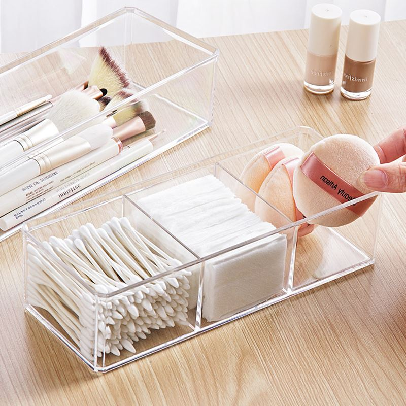 Portable and Transparent Makeup Organizer with Compartments of 18 Grids made of Acrylic for Storage of Beauty Products 1