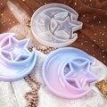 Форма для подноса в виде полумесяца и звезды из эпоксидной смолы, силиконовые литые инструменты 54DC