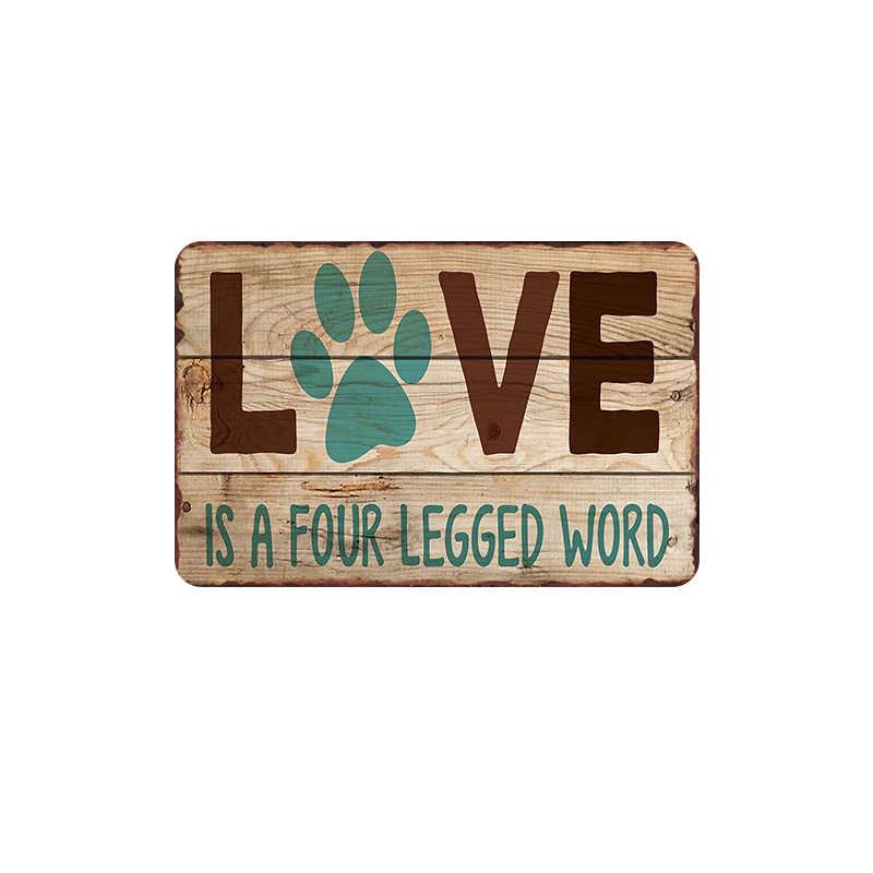 Kucing Seperti Keripik Kentang Retro Plakat Tanda Logam Pub Piring Dekoratif Anjing Stiker Dinding Huruf Poster Seni Dekorasi Rumah