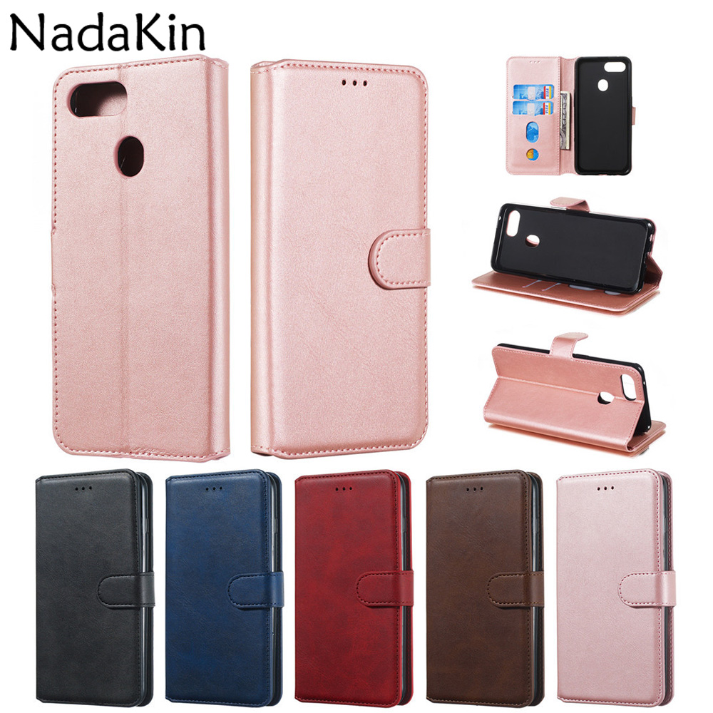 Luxury Leather Book Shell Case for <font><b>OPPO</b></font> A59 F1S A83 A1 A73 F5 AX5 A3S <font><b>F9</b></font> A9 F11 <font><b>Flip</b></font> <font><b>Cover</b></font> With Card Money Pocket image
