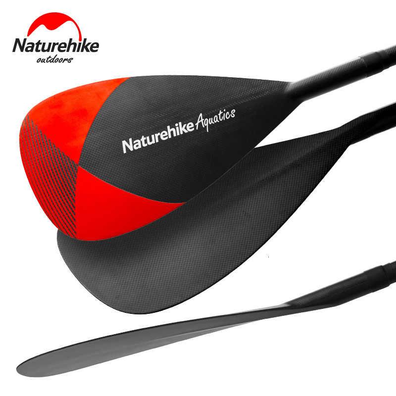 Naturehike hight qualidade três-seção de fibra de carbono sup paddle ajustável da liga de alumínio pás de esqui água barco prancha remo