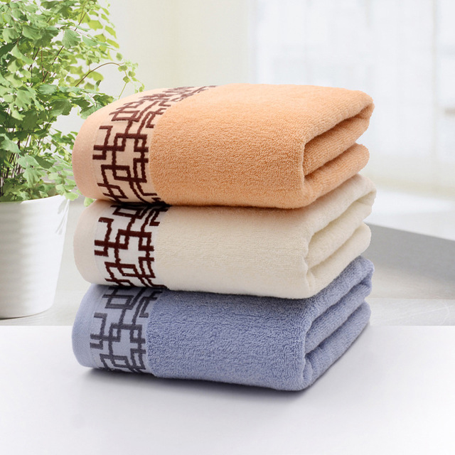 Cotton Bath Towel 70*140cm 410g Bath Towel Pure Cotton Bath Towel Plain Colored Beach Towel