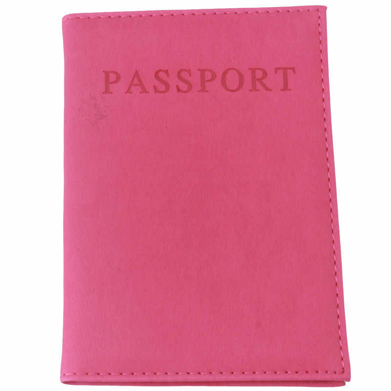 Fashion Faux Leather Travel Passport Holder Cover ID Card Bag Passport Wallet Protective Sleeve Storage Bag PA838528