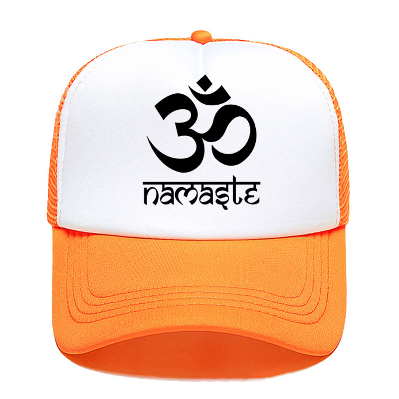 2020 New Printed Om Namaste Women Men Baseball Cap Summer Outdoor Sun Hat Adjustable Sports Caps In Mesh Hat Trucker Hat