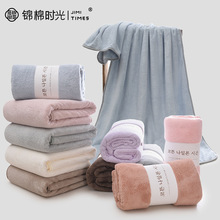 Coral fleece thickened beach towel quick-drying plain strong absorbent super soft skin-friendly adult bath towel towel set