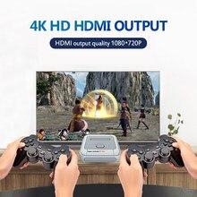 Super console x pro console emulador duplo com 2.4g controladores sem fios 4k hd tv consolas de jogos de vídeo para psp/n64/dc/ps