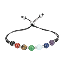 Cuff Bracelets Chakra-Stone Bangle Beads Gifts Girls Natural-7 For Women with Crystal-L