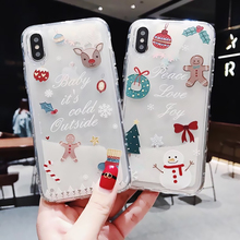 Glitter Christmas Phone Case For iphone 6 6S 7 8 Plus X XR XS MAX Dynamic Liquid Quicksand Cover Cases Bling Sequins