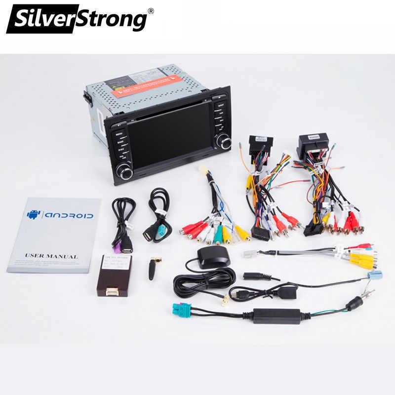 SilverStrong 8 コア Android9.0 4 グラム 64 グラム 2Din アウディ A4 A3 RS3 RS4 2002-2007 カーマルチメディアアウディ 2din wifi