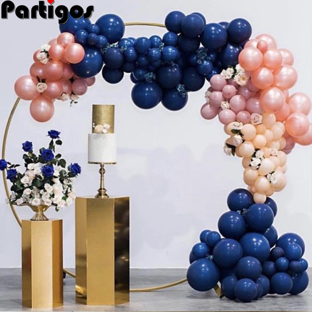92pcs Navy Blue Balloon Garland Kit Rose Gold Retro Pink Latex Balloons Wedding Bridal Shower Gender Reveal Birthday Party Decor