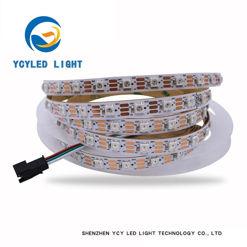5m programable SK6812/ws2812b 60 leds/M 5v Individual direccionable Led tira no impermeable/ tira impermeable IP65 IP67 neopixel