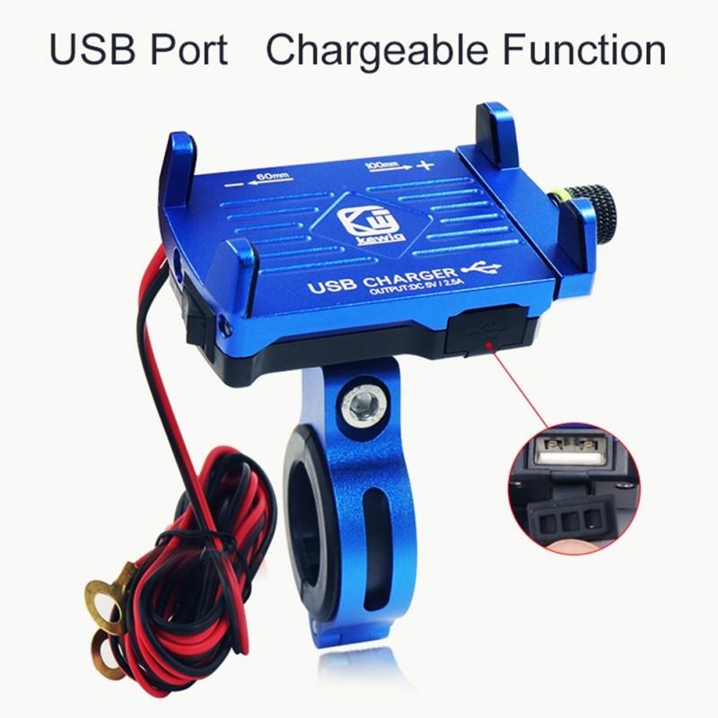 Motorcycle Bike Mobile Phone Holder USB Charger For Electric Car Mountain Bike Holder phone holder Bracket cellphone holders