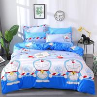 3/4pcs Doraemon Cartoon Printing Quality Winter Bedding Set Duvet Cover Bed Flat Sheet Pillowcase Bedroom Supplies Dropshipping 1