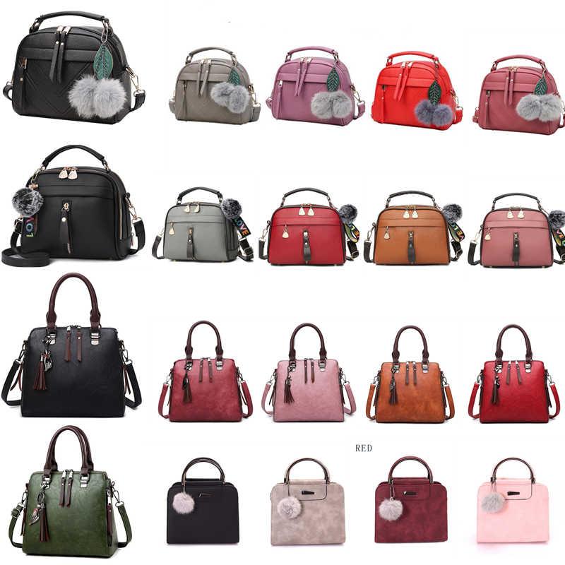 Pu レザーハンドバッグ女性ガールファッションタッセルメッセンジャーバッグボールボルサ女性のショルダーバッグバッグの女性のパーティー crossby バッグ