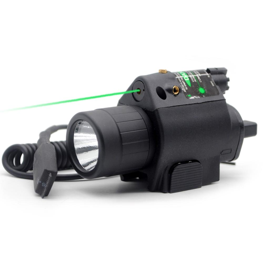 TriRock Green Dot Laser & LED Flashlight Torch Sight Scope Rifle/Gun Hunting Mount Combo With 20mm Picatinny Rail